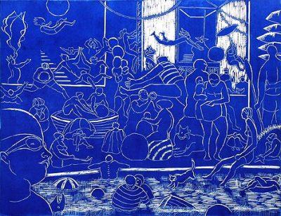 blue bathers
