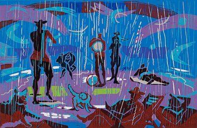 rain (blue)