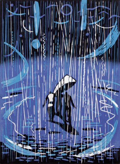 rain and the boat