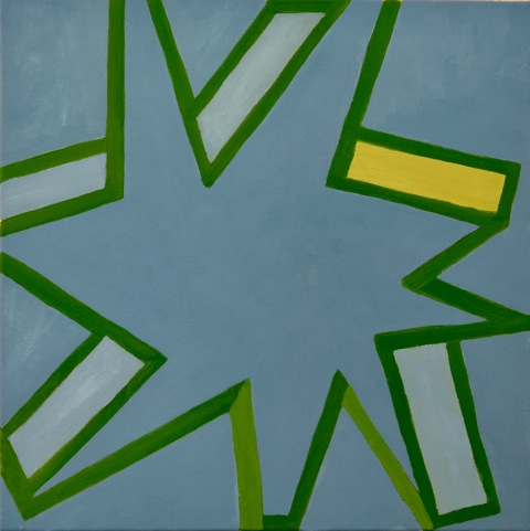 star.blue and green