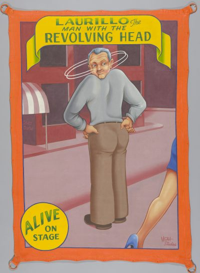 Laurillo man with the revolving head 2