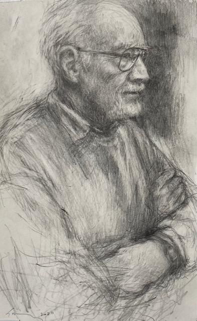portrait of george in graphite