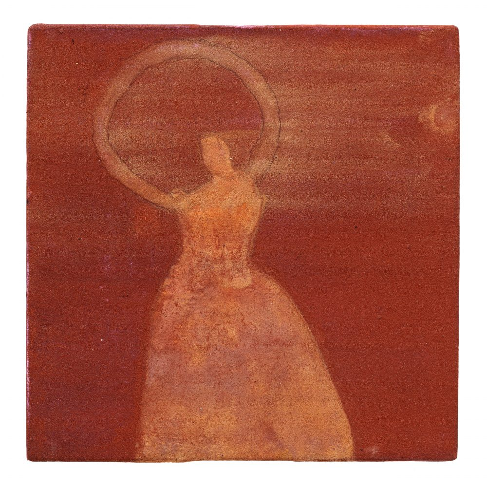 Orange Dancer with Circle